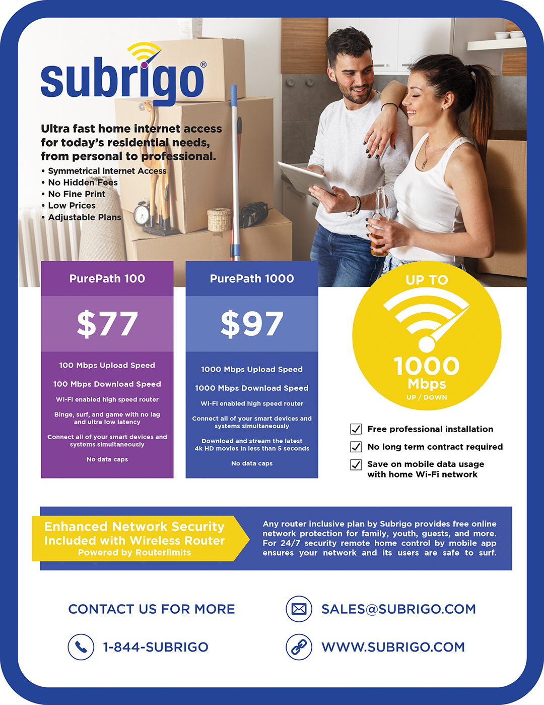 flyer design for subrigo