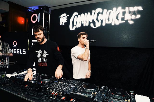 About last night... @thechainsmokers & @chanteljeffries performing at the launch party of Wheels! Congrats @takewheels , you guys know how to throw a party. Now off to find a Wheels scooter... 🛵🛵 #takewheels #sunsettowerhotel #thechainsmokers