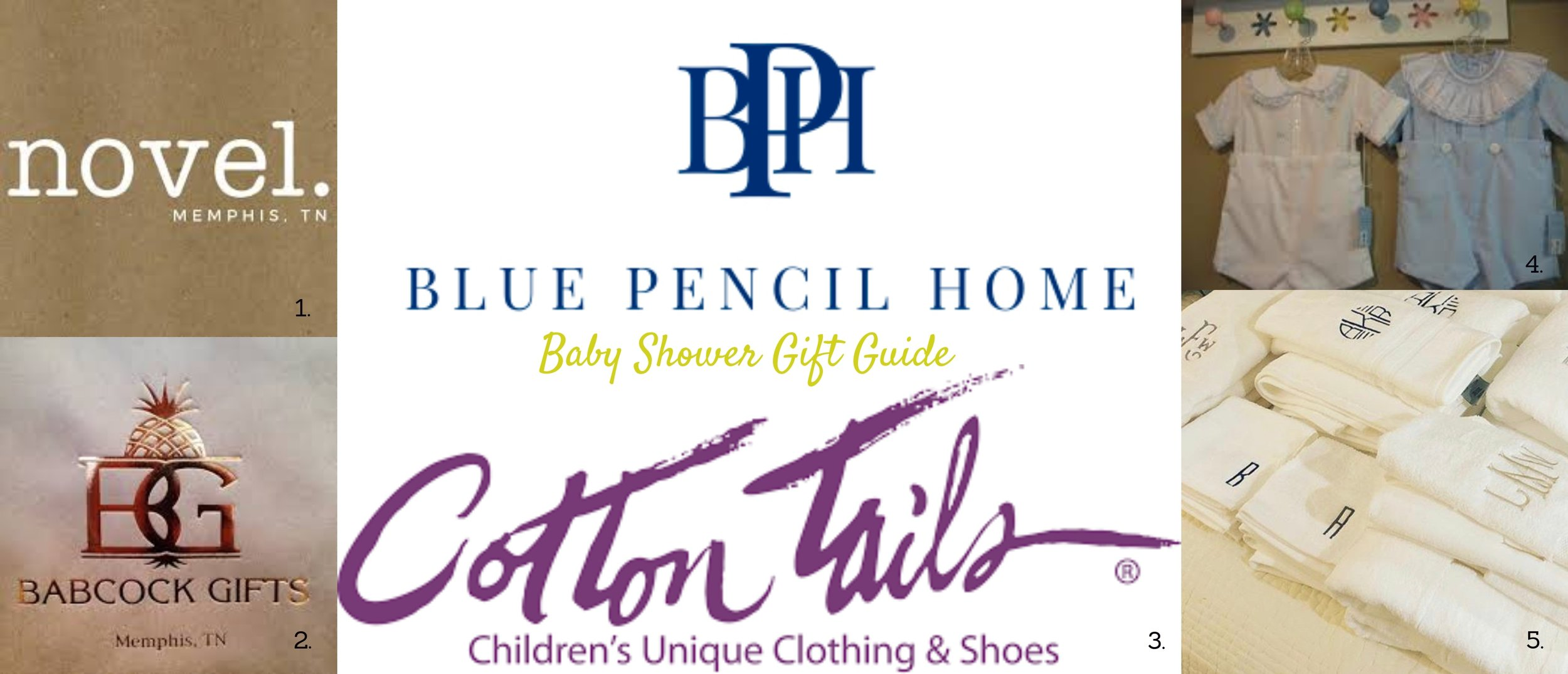 Baby Shower Gift Guide, blue pencil home, spring