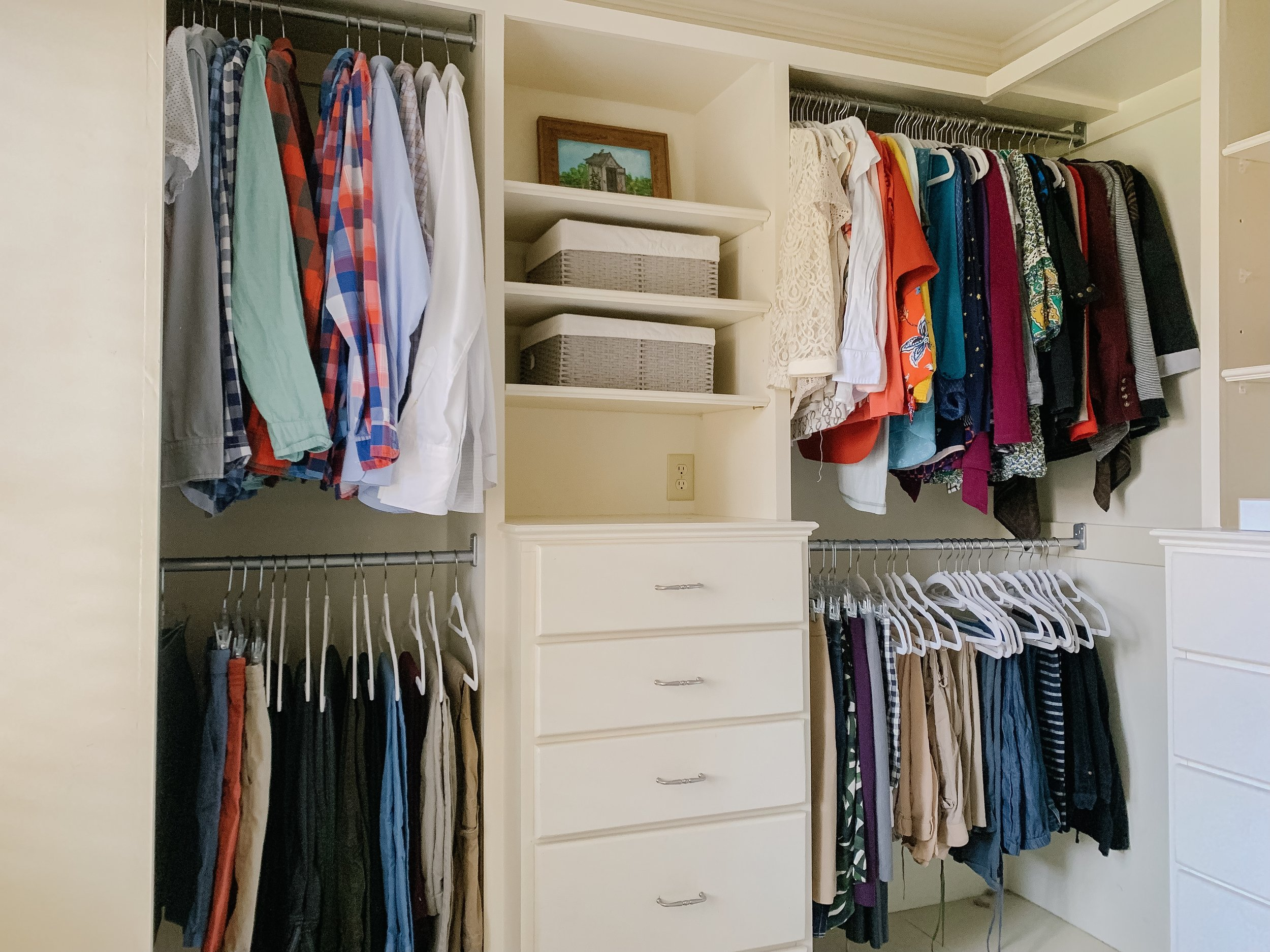 A client's closet we staged before the house was listed.