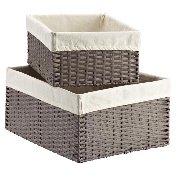 Grey Montauk Storage Bins -