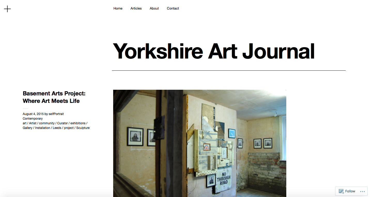 Yorkshire Art Journal - https://yorkshireartjournal.com/2015/08/04/basement-arts-project-where-art-meets-life/