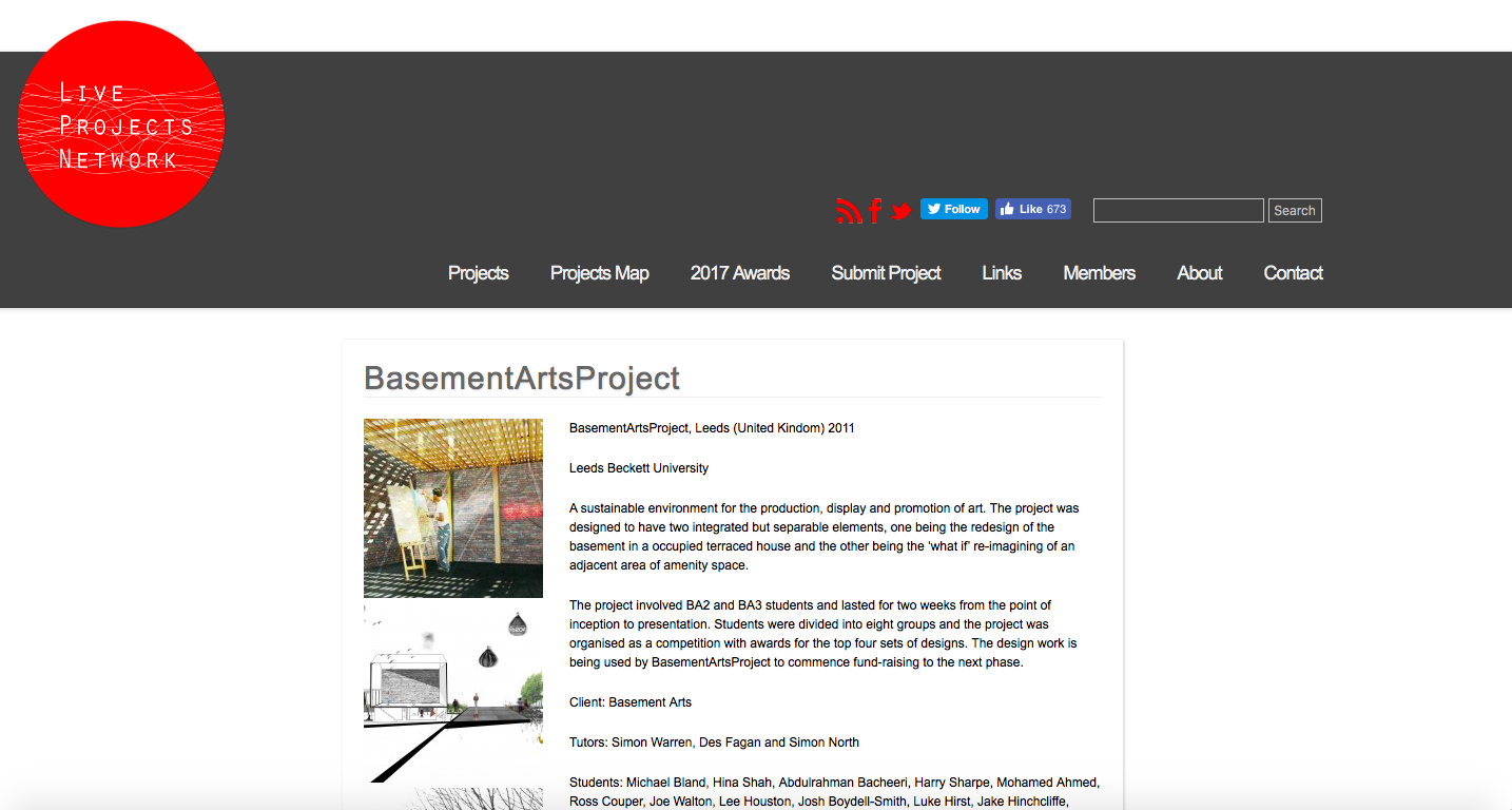 Live Projects Network - https://liveprojectsnetwork.org/project/basementartsproject/
