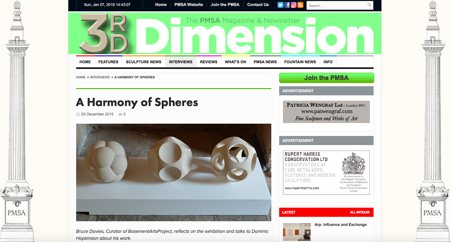 3rd Dimension - https://3rd-dimensionpmsa.org.uk/interviews/2015-12-03-a-harmony-of-spheres