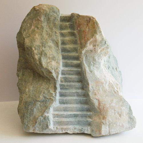 Keith Ackerman | Jacob's Ladder. (2017) Marble. Photo: Adam Glatherine