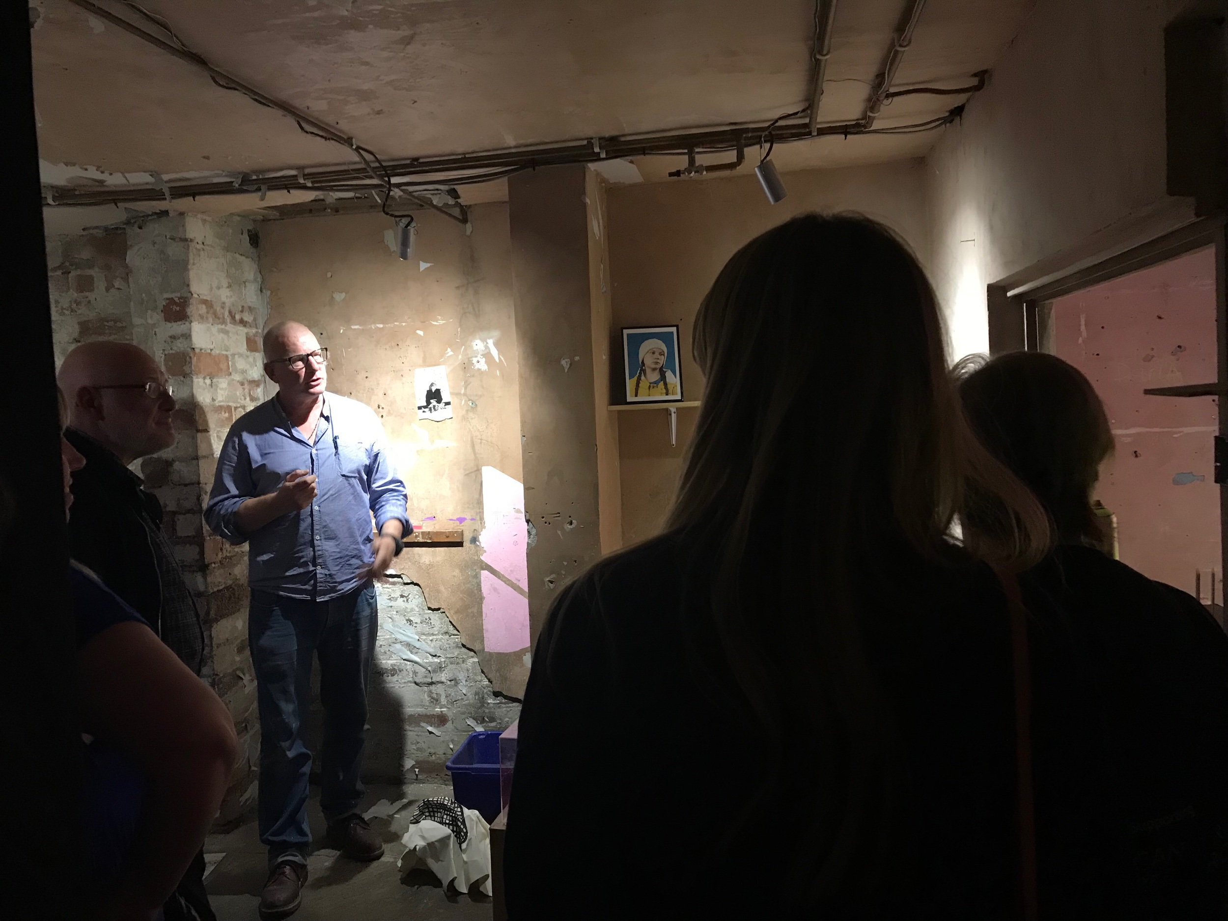 On site at BasementArtsProject: Phill Hopkins talks about his almost complete exhibition 'A House Within A Home' which opens Saturday 10th August | 12-5pm