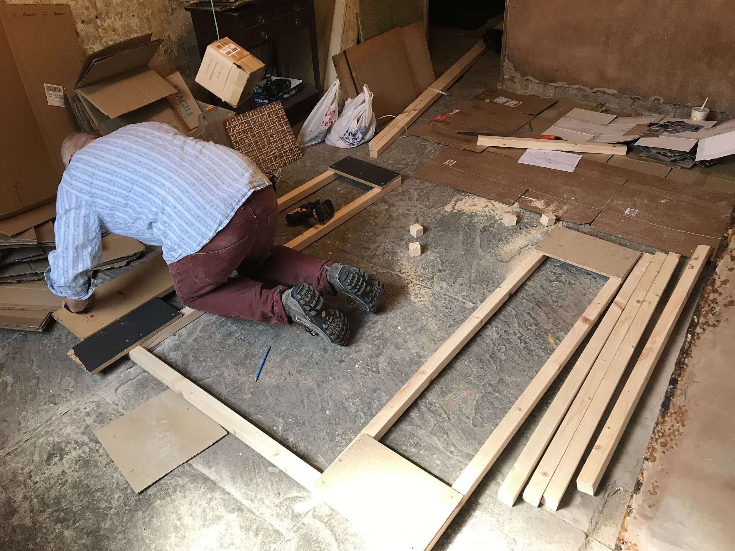 Phill Hopkins work begins on A House Within A Home (June 2019) Photo: Bruce Davies