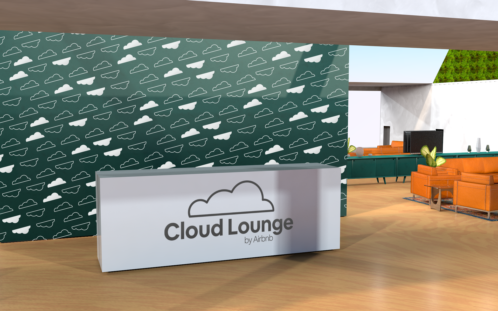 Entrance to the Airbnb Cloud Lounge