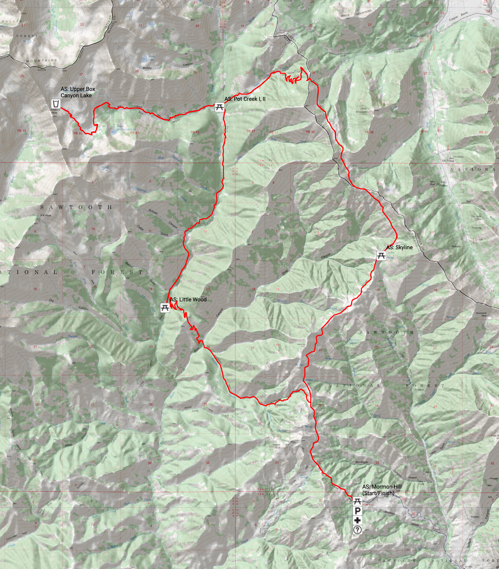 Triumph 50K course route. Click to take a closer look.