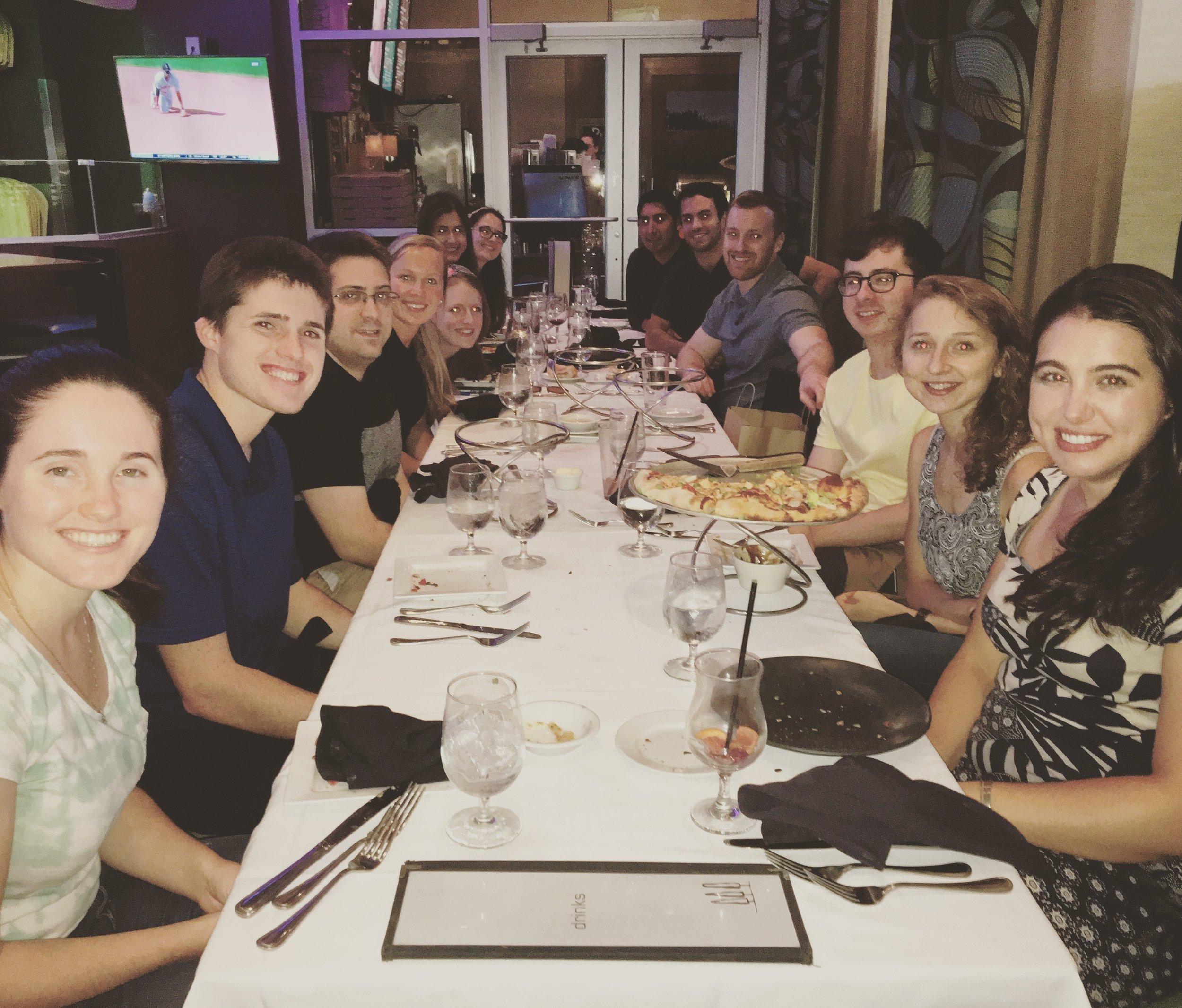 NCC Dinner at Tavalino