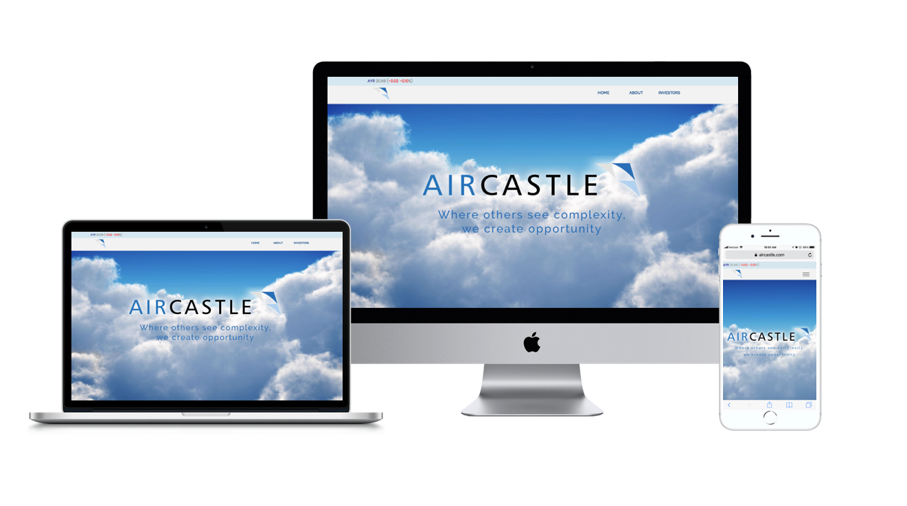 AIRCASTLE:  Website Redesign