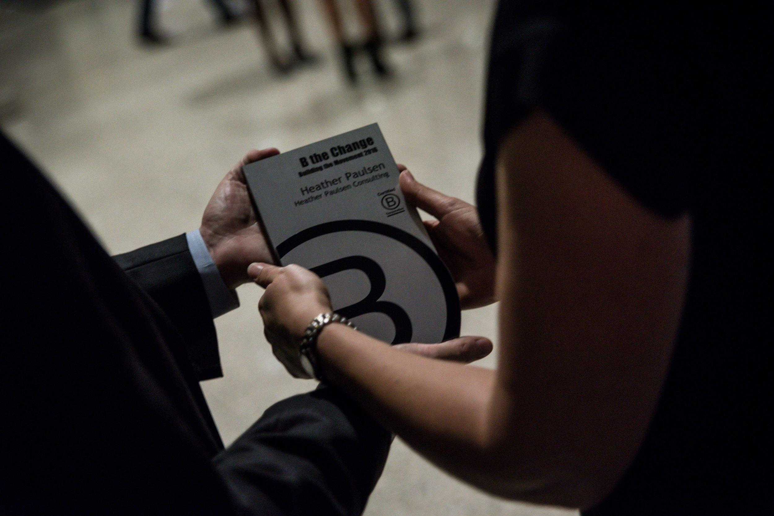 HPC receives B Lab award-changing hands.jpg