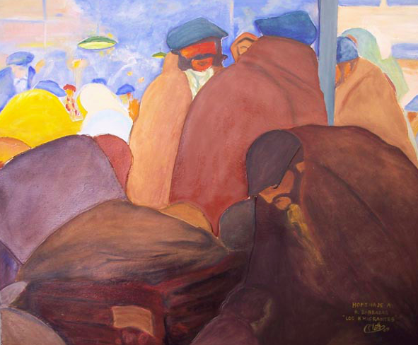 Los emigrantes  by Rafael Barradas, 1912