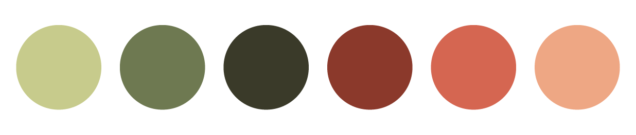 Color palette created by Aubrey, it mimics the colors of the Bangladesh flag while staying fun and gender neutral