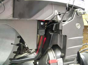 3. Once the installation position is determined remove the tape covering and install the Laserkerf on to the bracket.