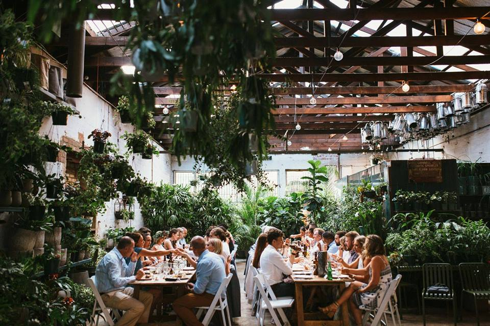 Glasshaus - Glasshaus in Cremorne is perfect for both smaller formal dining events or stand-up cocktail wedding and events. During the week this space primarily acts as a nursery run by Paul Hyland. So, if strikingly unusual flowers and plants excites you, you cant go past this creative green event space.Capacity: 125 / 40