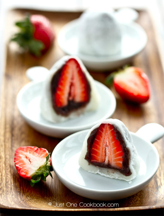 Strawberry Daifuku Mochi recipe from Just One Cookbook