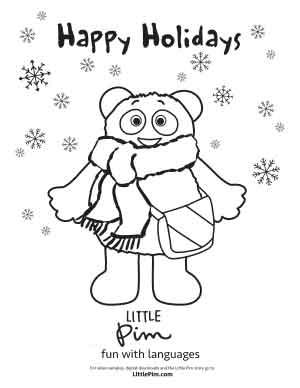Little Pim S Winter Coloring Pages Little Pim