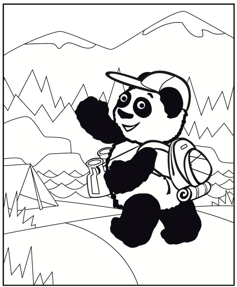 little pim summer coloring page