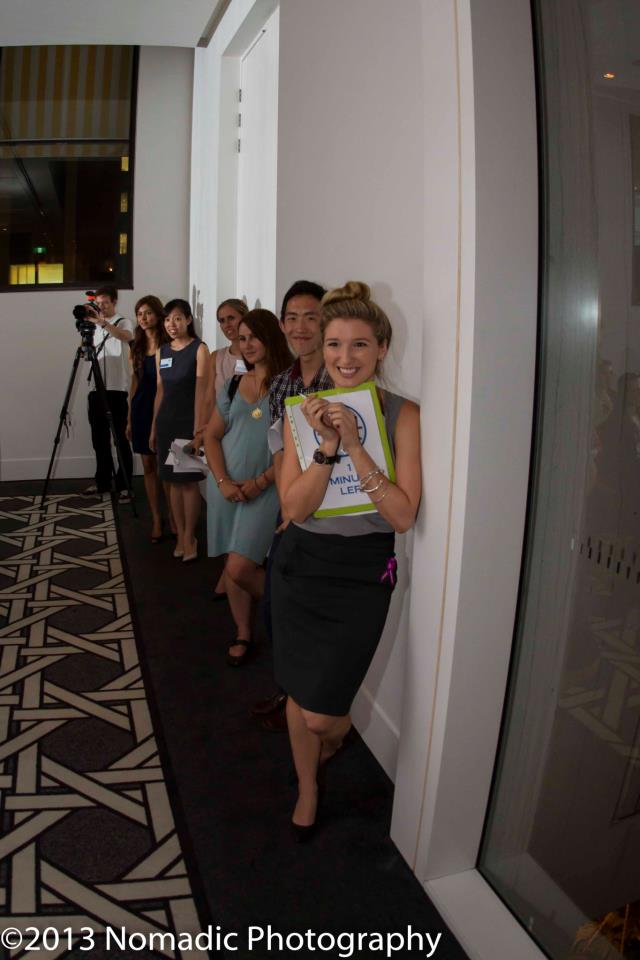 Co-CEO Alexandra Mayhew manages an event for the United Nationals Association of Australia Young Professionals.