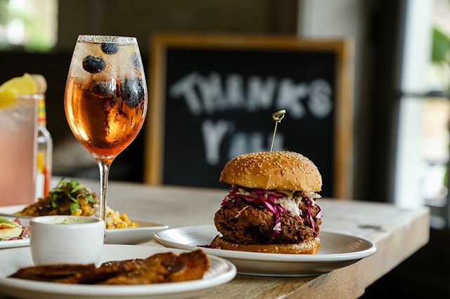 FRI-YAY! Start off the weekend with a spritz and a fried chicken sandwich! #nolaeater
