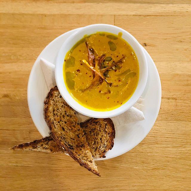 Castaway Monday special! $5 Coconut Curry Sweet Potato Soup #happyhour #nolaeats