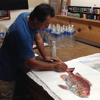 Print Making with Gyotaku by Naoki