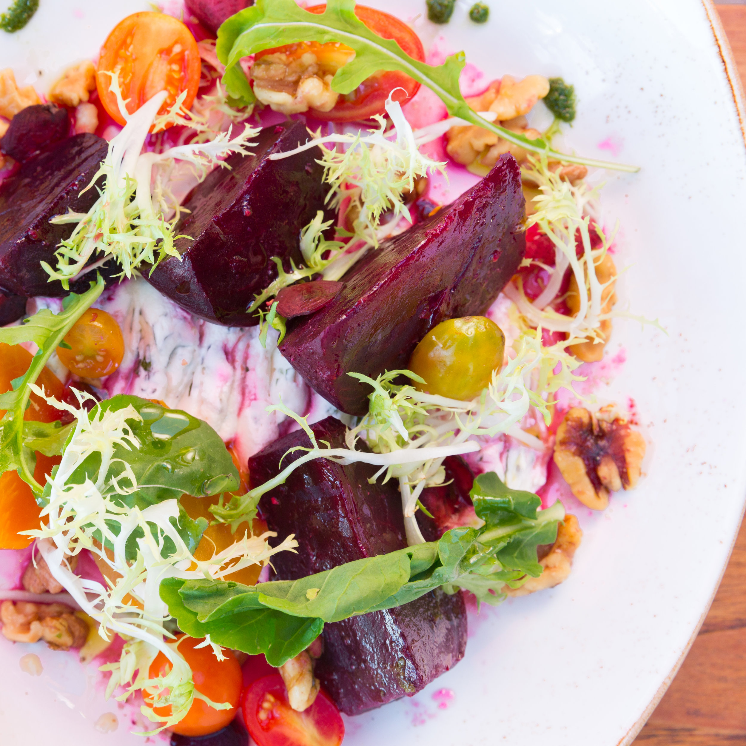 Roy's Beach House_Sweet Up-Country Beets | Goat Cheese,Toasted Walnut, Pomegranate Emulsion -__pc Craig Bixel_07-2017.jpg
