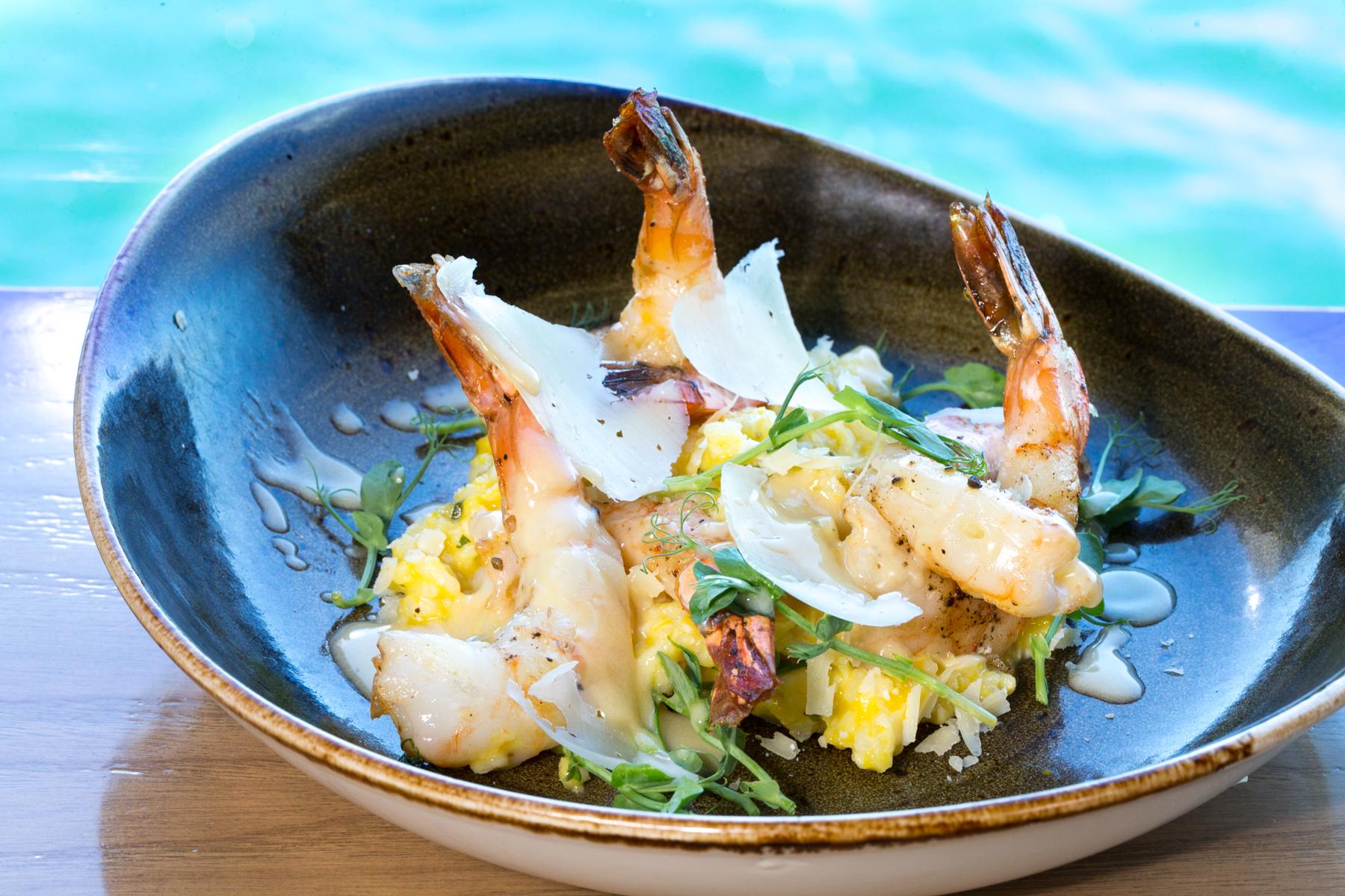 Roy's Hawaii_Lemon & Black Peppercorn Crusted Shrimp | Roasted Barley & Kabocha Risotto__pc Craig Bixel_10-2017.jpg