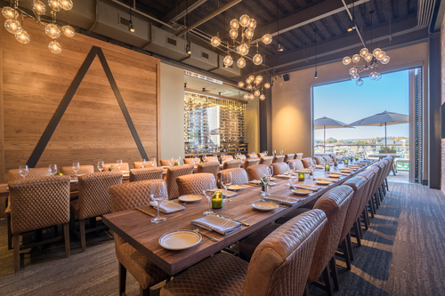 The Private Dining Room at Haywire can accommodate up to 50 guests