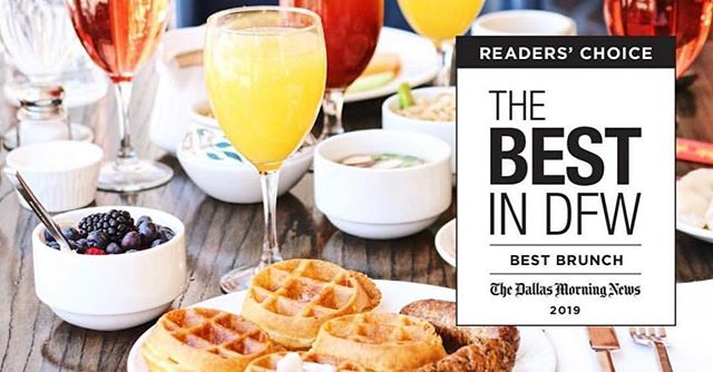 Did you hear the Dallas Morning News? We've been nominated for Best Brunch in DFW! Please vote for us! Voting ends Wednesday, April 17th and you can vote every hour until voting ends. Check out the link in our bio. Go vote...NOW! • • • #bestbrunchintown #sixtyvinesuptown #mimosabar