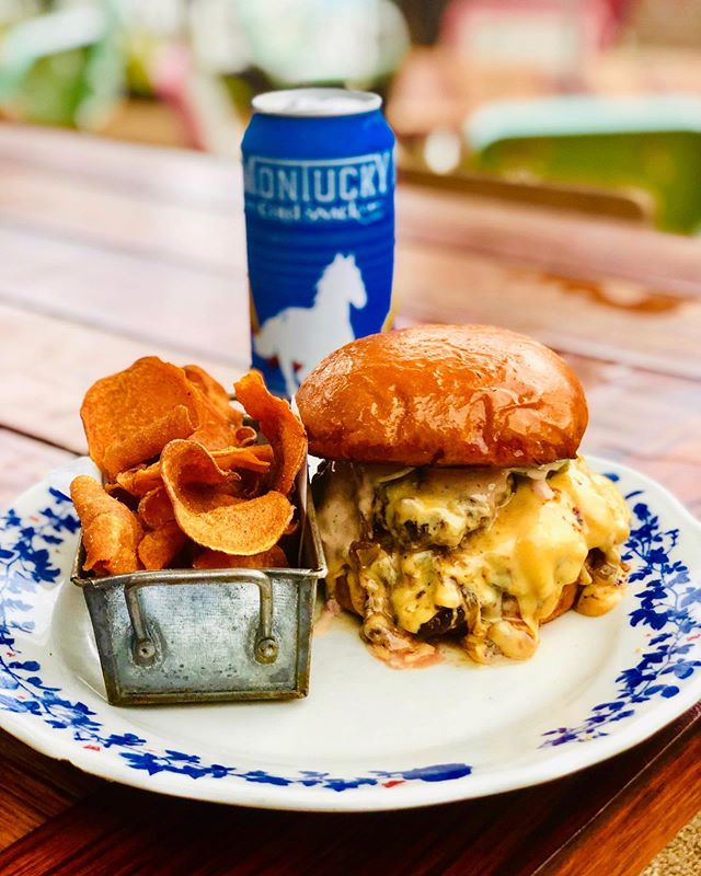 You know what's better than a burger?! A burger that comes with a beer!!! Yeah you heard right! Come during our vinyl hour to try the SNACK and STACK!!! Two juicy smash patties smothered in American cheese, green tomato jam, and our Ida sauce! And don't forget you get a delicious Montucky cold snack beer to go with that burger for only $13!! 🍻 • • • • • • • #idaclaire #burgerandbeer #southofordinary #southernhospitality #montuckycoldsnack #happyhour #foodie