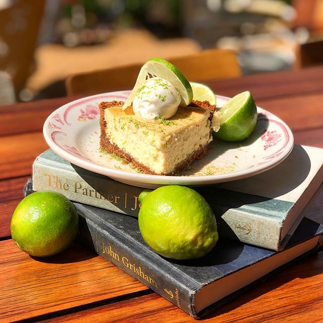 When life gives you limes, you turn it into key lime pie! Come try our new seasonal home made key lime pie with a delicious graham cracker crust, creamy whip cream and a little lime zest on top! Just the perfect amount of tart 😉 • • • • • #idaclaire #southofordinary #keylimepie #mondaymood #southernhospitality #piegamestrong