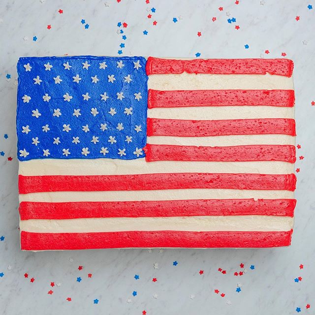 ⭐️Just Announced ⭐️ We're throwing a Freedom Celebration July 3-6 with FOUR days of live rock-n-roll, patriotic bites, freedom margaritas and family-fun. • • • 📷: @susiecakesbakery 🇺🇸 sheet cake. Must pre-order.