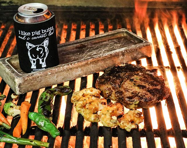 In case you forgot, tomorrow is Father's Day, and we've got dad covered!  Surf your turf with our gulf shrimp topped with chili hollandaise. Every father that dines with us tomorrow will go home with this awesome koozie!  Reservations still available  #fathersday2019 #surfandturf #planoeats #stufftodoindallas
