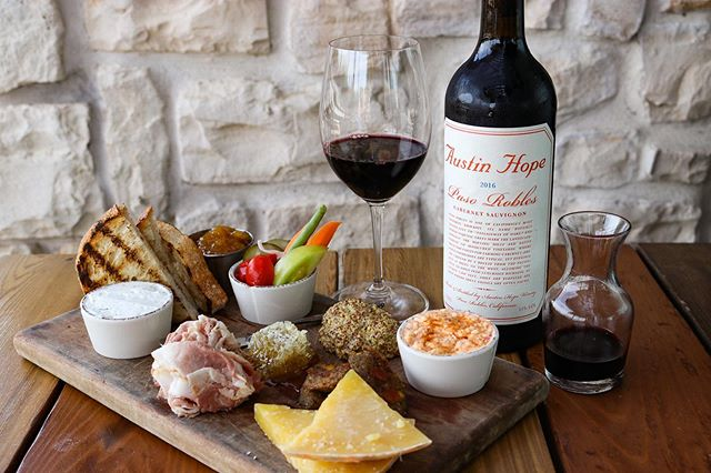 Ladies, tonight is your night! It's half price glasses AND bottles of wine all night starting at 4PM. This bold and jammy bottle of Austin Hope, Cabernet Sauvignon is only $33 every Wednesday night.  #winowednesday #cheeseboard #planoeats #planofoodie #stufftodoindallas