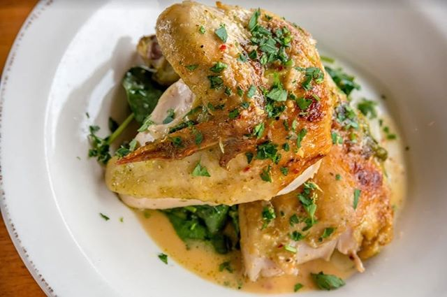 Chicken is what's for dinner!  Our Chickens are sourced from Nixon, Texas and go through a 48 hour process before being cooked. 24 hours of soaking in a brine and 24 more of marinating before they head to the rotisserie.  #localsourcing #planoeats #planofoodie