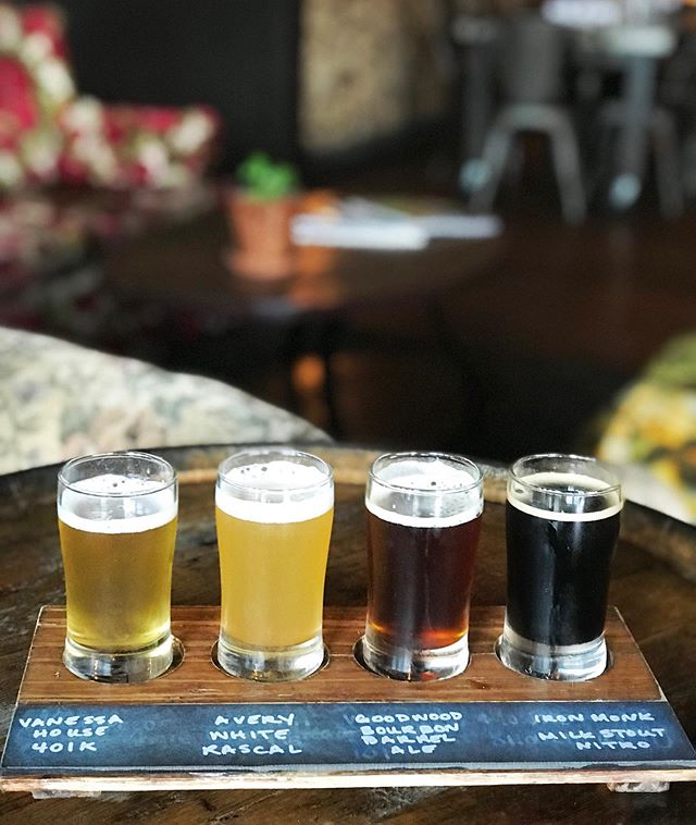 Four cheers for more beers! It's International Beer Day and we'll continue on this beer kick into the weekend!  Join us for dinner this evening and enjoy a custom beer flight for the holiday! • • • • #internationalbeerday #drinklocal #drinkmorebeer #cheersforbeers #werehereforthebeer #eatdrinklocal