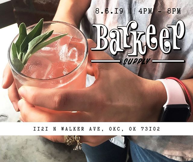 Let's T A K E O V E R @barkeepokc tomorrow August 6th from 4PM-8PM! Our badass bar team will be in Midtown serving you their own cocktail recipes and F R E E Whiskey Cake! 🥃🍰 Stay tuned to see what's on their drink menu! Who's joining us?! 🙋🏻‍♀️
