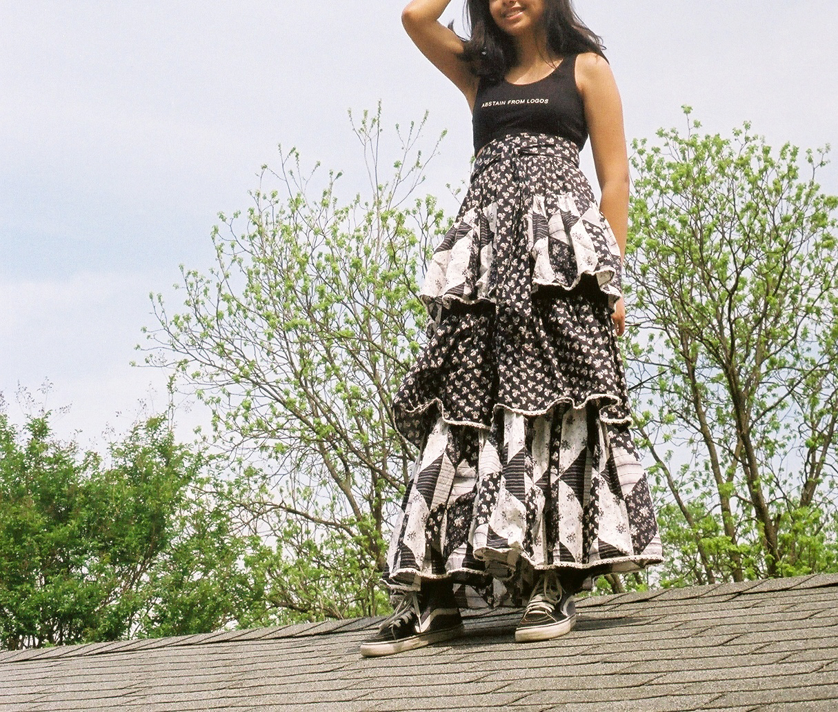 the sweetest skirt!! but sneakers again make it casual
