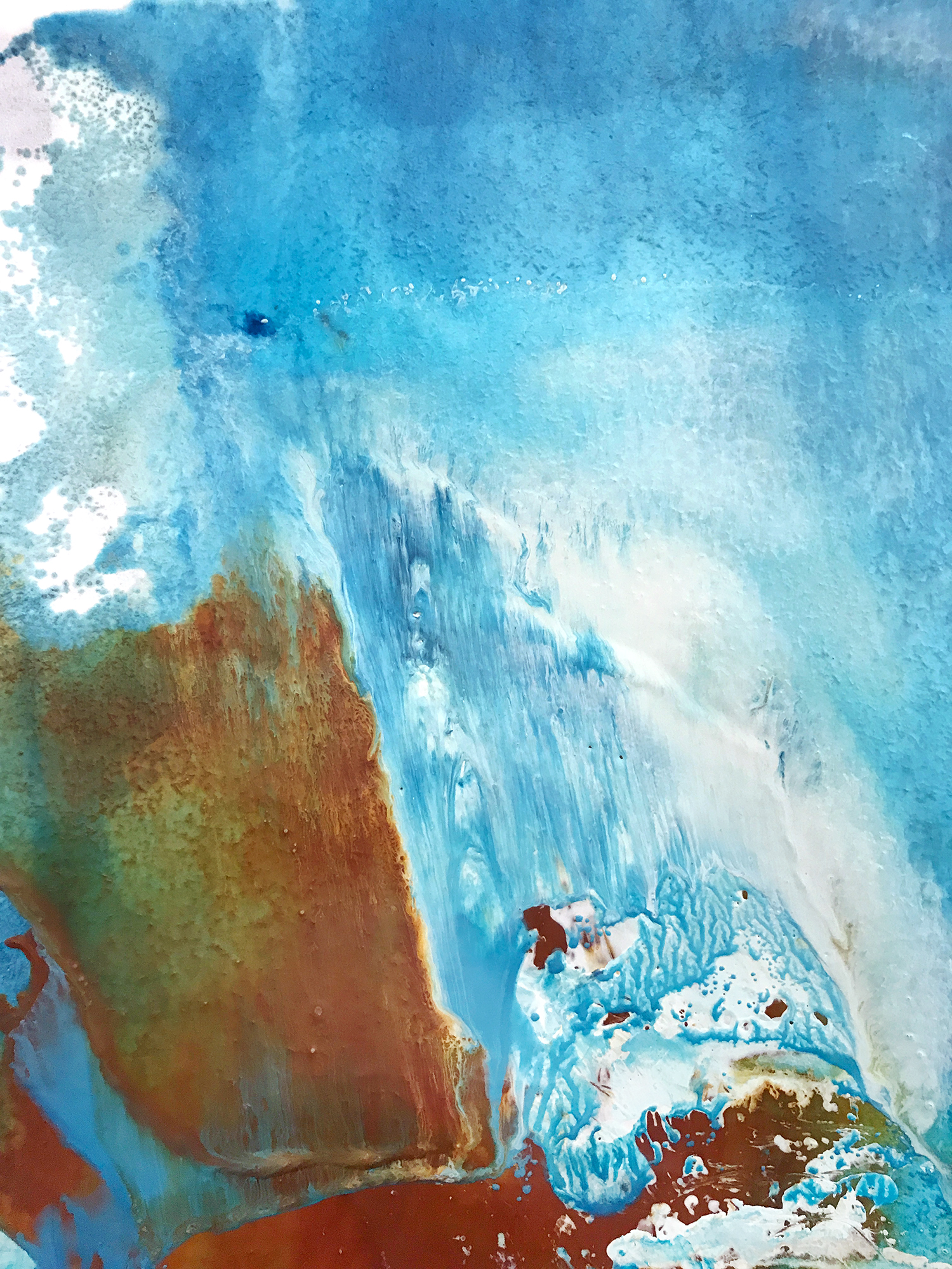 Waterfall, Red Rock, 9.5x6.5