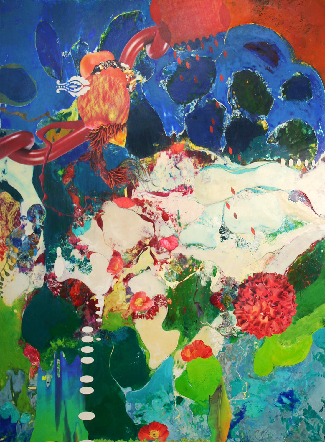 *SOLD* Stifling Heat & Heartbreak, 48x36x1.5