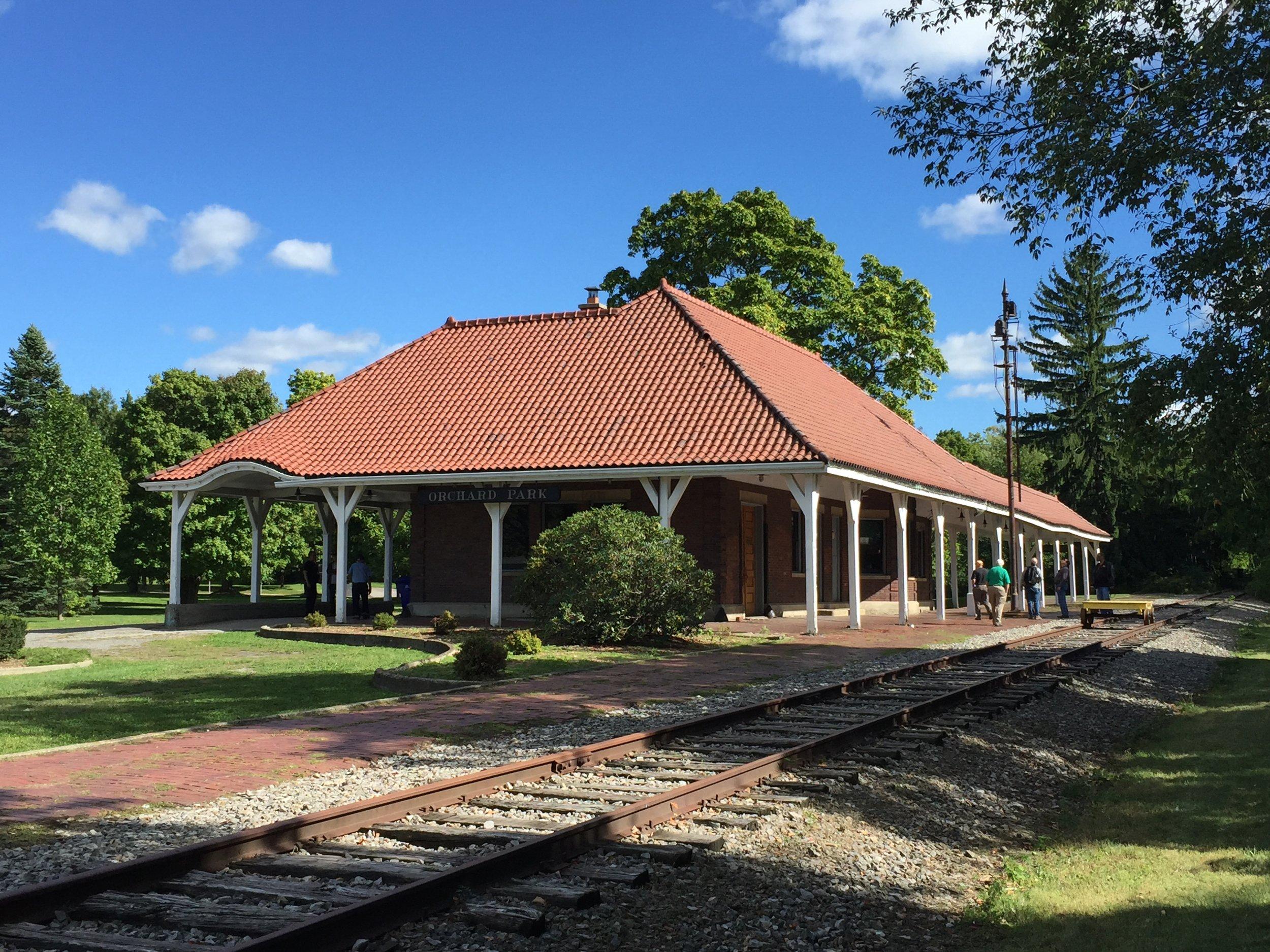 Western New York Railway Historical Society's ex-B&O depot in Orchard Park, NY
