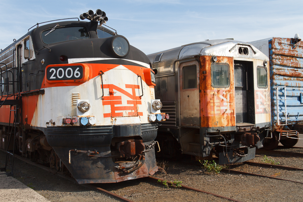 Former FL9 locomotive and Budd RDC that served under New Haven and Penn Central at the Danbury Railway Museum