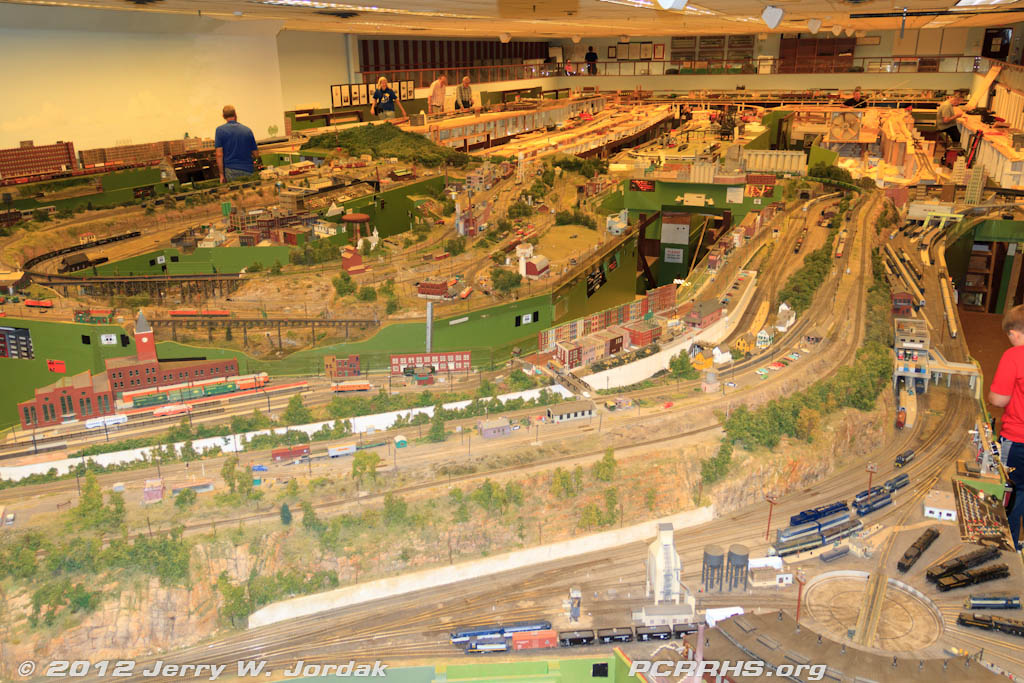 An overview of The Model Railroad Club's huge HO scale layout