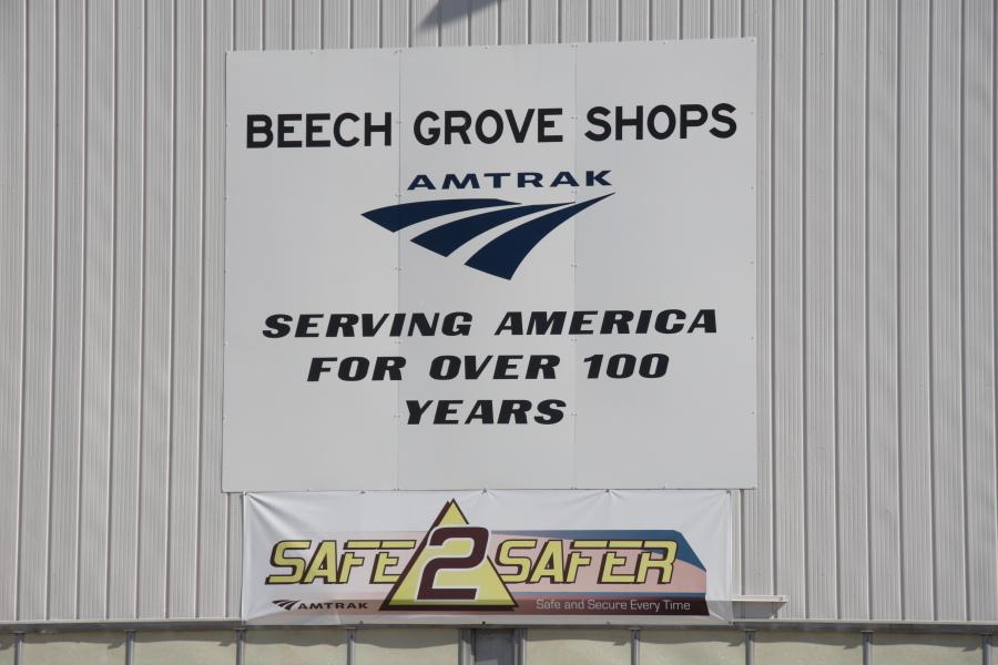 Sign outside the Beech Grove Shops