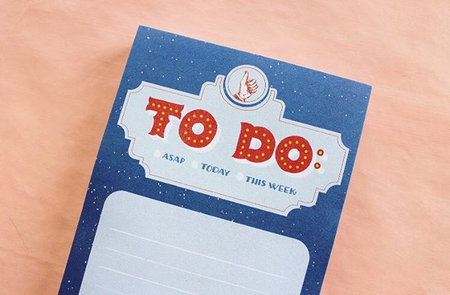 ASAP, today or this week, just get it done! Our Marquee notepad is the perfect gift this season for anyone who needs a little help getting their shit together 💪🏼