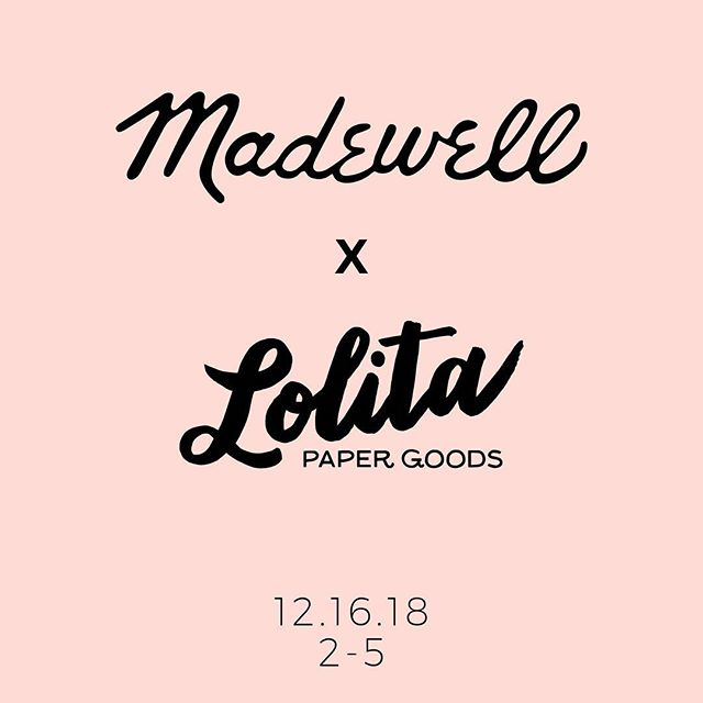 Join us THIS SATURDAY at @madewell on Lincoln Road from 2-5 for an afternoon of sips, sweets and of course, hand lettered goodies by yours truly! We look forward to seeing you there!