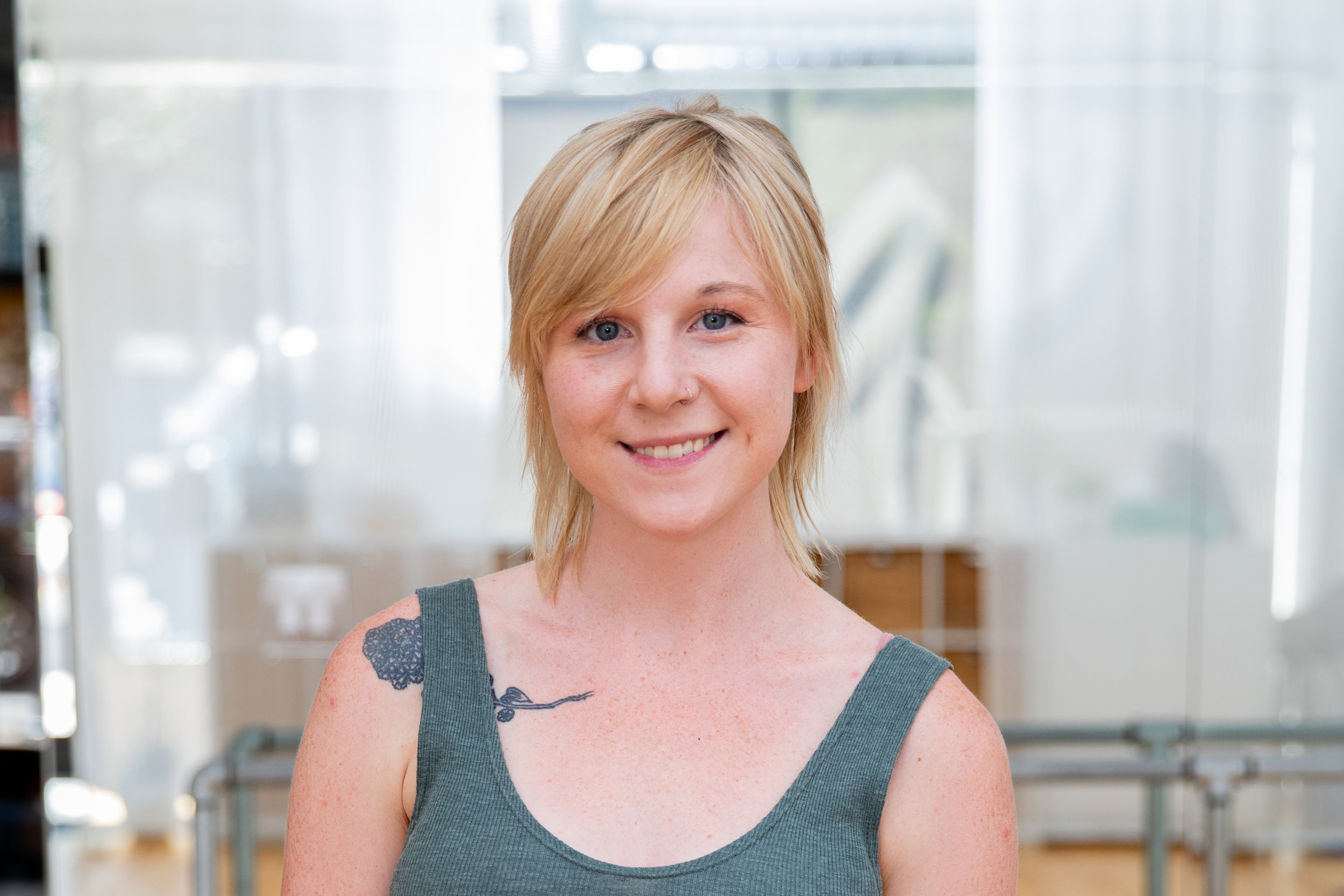 Paige P. - TrainingGrand Jete Barre, BarreAmed, NeighborhoodBarre, Balanced Body Reformer, Stott Chair and Reformer, Polestar Pilates ComprehensiveExperience8 years of Barre, 5 years of HIIT and strength/conditioning, 3 years of Pilates on the ApparatusTeaching GoalsHelp people find a strong connection with their mind and body. To make their health journey fun, creative, and educational. To create long term goals and work on meeting milestones in and out of the studio.Outside the StudioI travel tons! I adore reading memoirs and biographies. I bike because it's freeing and I love any creative outlet. I like to take on random interests that others show me :).