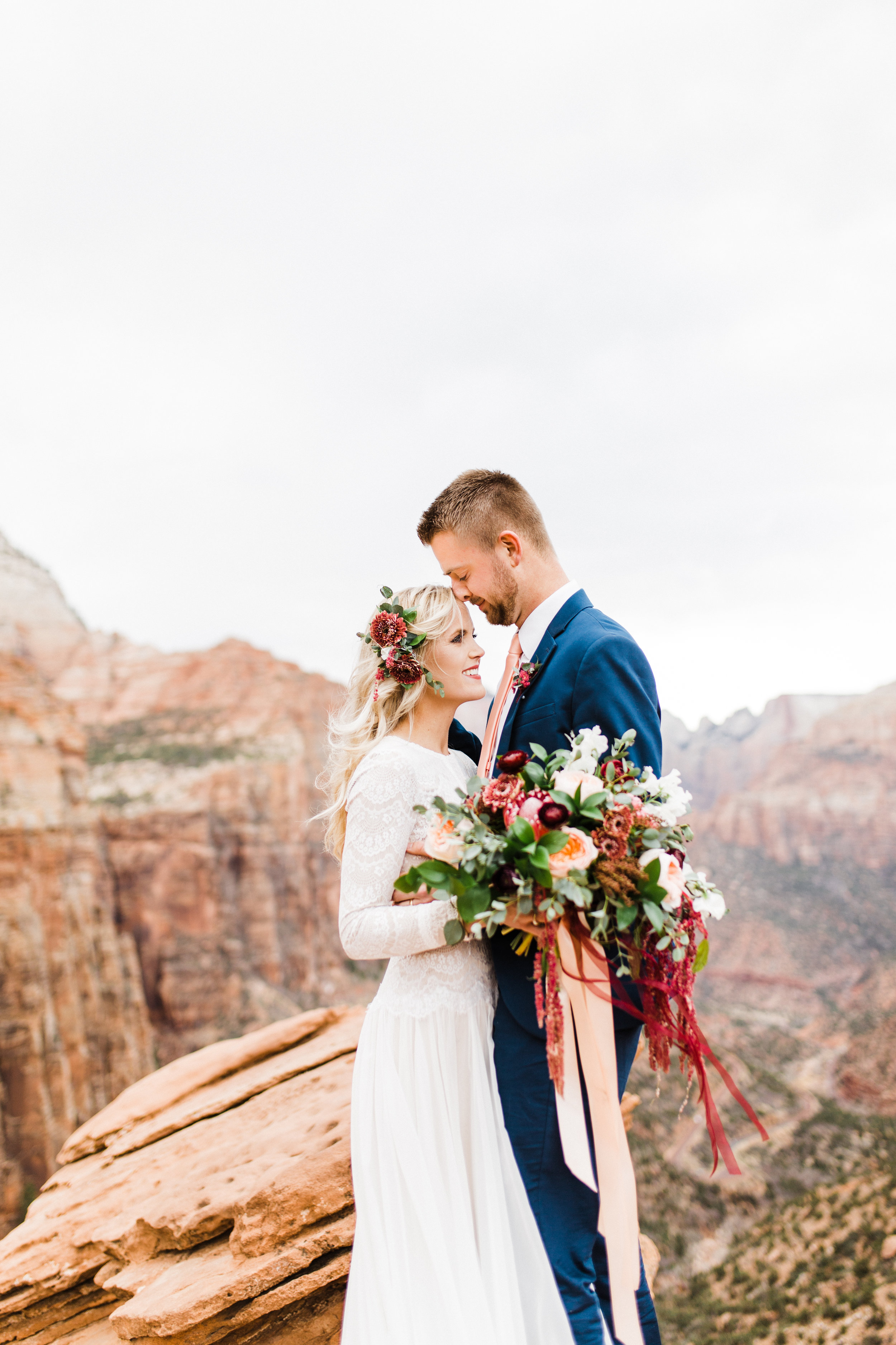 zion national park - bridal - elopement- wedding